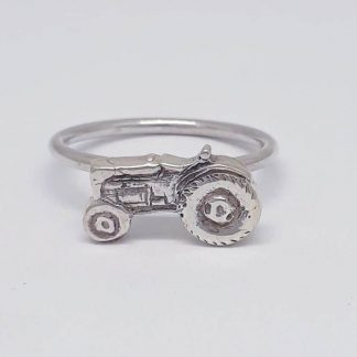 Sterling Silver Tractor Stack Ring - Goldfish Jewellery Design Studio