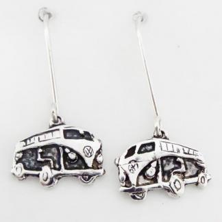 Sterling Silver Volkswagen Combi Earrings
