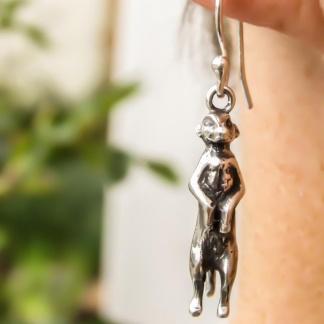 Sterling Silver Meercat Earrings