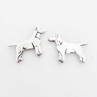 Sterling Silver Bull Terrier Earrings