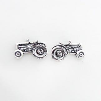 Sterling Silver Tractor Earrings