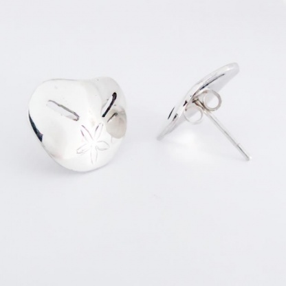 Sterling Silver Medium Pansy Shell Earrings - Goldfish Jewellery Design Studio