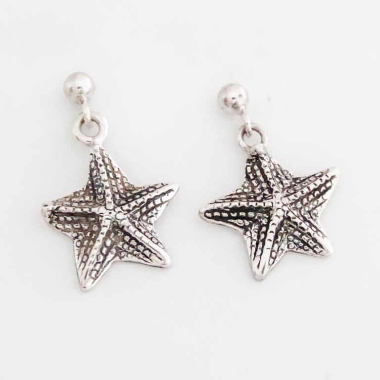 Sterling Silver Sea Star Earrings