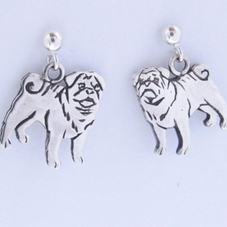 Goldfish Jewllery Design Studio - Sterling Silver Pug Earrings