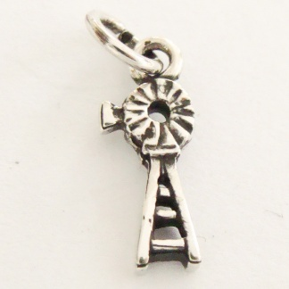 Sterling Silver Windpump Charm
