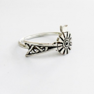 Sterling Silver Windpump Stack Ring