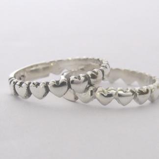 Sterling Silver Heart Eternity Ring
