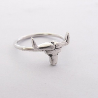 Sterling Silver Taurus Stack Ring - Goldfish Jewellery Design Studio