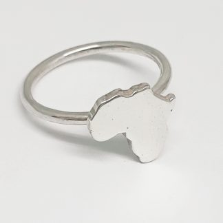 Sterling Silver Medium Africa Stack Ring - Goldfish Jewellery Design Studio