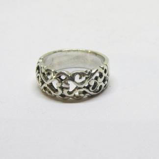 Sterling Silver Filigree Dome Ring - Goldfish Jewellery Design Studio