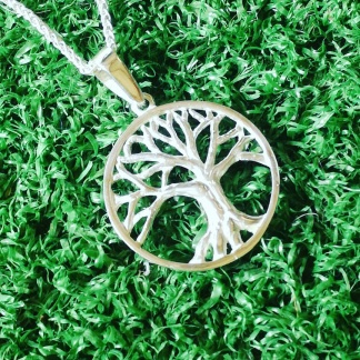 sterling silver tree of life pendant - made by goldfish jewellery design studio