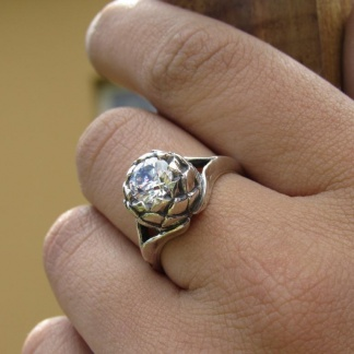 Sterling Silver Large Protea Ring - Goldfish Jewellery Design Studio