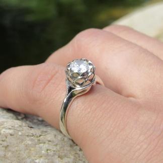 Sterling Silver Small Protea Ring - Goldfish Jewellery Design Studio