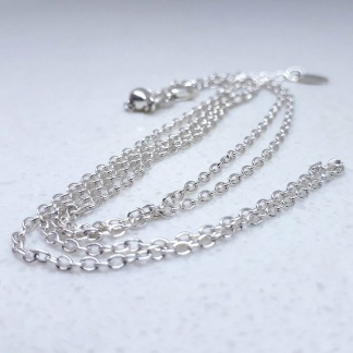 Sterling Silver Oval Rolo Slider Adjuster Chain - Goldfish Jewellery Design Studio
