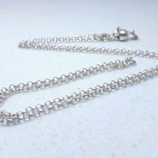 Sterling Silver Rolo Tondo Slider Adjuster Chain - Goldfish Jewellery Design Studio