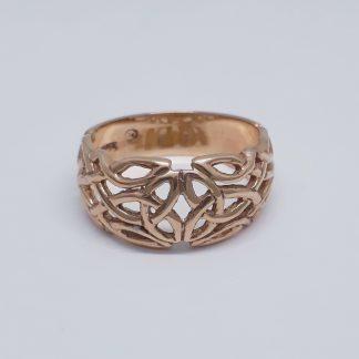 9ct Rose Gold Celtic Dome Ring - Goldfish Jewellery Design Studio