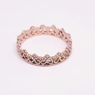 9ct Rose Gold Princess Crown Ring - Goldfish Jewellery Design Studio