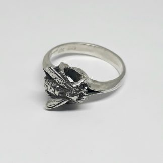 Sterling Silver Honey Bee Ring | Goldfish Jewellery Design Studio