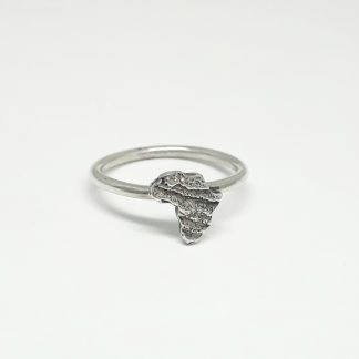 Sterling Silver Small Cuttlefish Africa Stack Ring - Goldfish Jewellery Design Studio