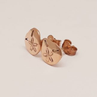 9ct Rose Gold Small Pansy Shell Earrings | Goldfish Jewellery Design Studio