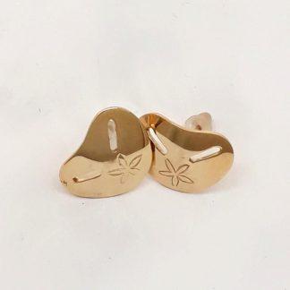 9ct Gold Medium Pansy Shell Earrings - Goldfish Jewellery Design Studio