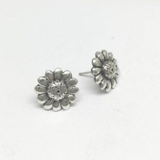 Sterling Silver Downward Daisy Earrings - Goldfish Jewellery Design Studio