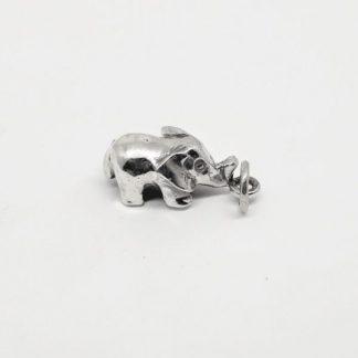 Sterling Silver 3D Elephant Charm - Goldfish Jewellery Design Studio