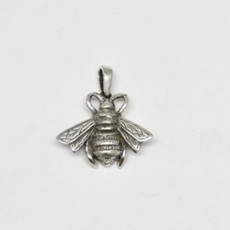 Sterling Silver Large Honey Bee Pendant - Goldfish Jewellery Design Studio