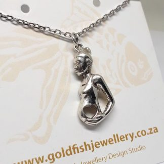 Sterling Silver Mama Africa Pendant - Goldfish Jewellery Design Studio