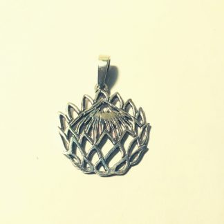 Sterling Silver Cut-Out Protea Pendant - Goldfish Jewellery Design Studio