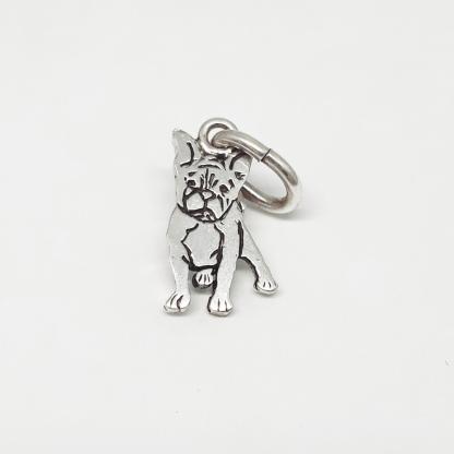 Sterling Silver French Bulldog Charm - Goldfish Jewellery Design Studio