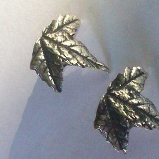 Sterling Silver Maple Leaf Earrings