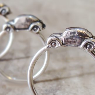 Sterling Silver Volkswagen Beetle Stack Ring