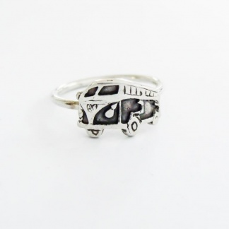 Sterling Silver Volkswagen Combi Stack Ring