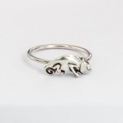 Sterling Silver Chameleon Stack Ring