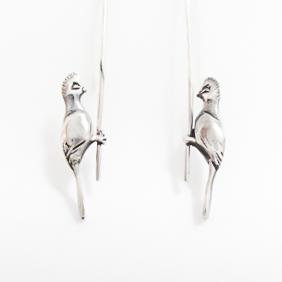 Sterling Silver Knysna Loerie Earrings
