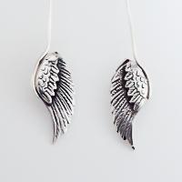 Sterling Silver Bird Wing Earrings