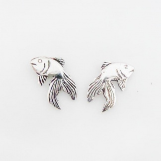 Sterling Silver Goldfish Earrings