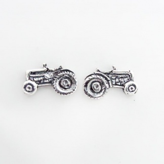 Sterling Silver Tractor Earrings