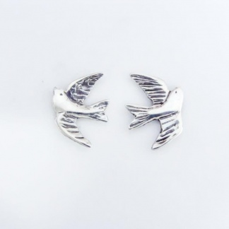 Sterling Silver Swallow Earrings - Goldfish Jewellery Design Studio