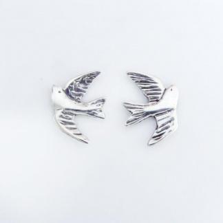 Sterling Silver Swallow Earrings - Goldfish Jewellery Design Studio