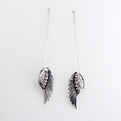 Goldfish Jewellery Design Studio - Sterling Silver Bird Wing Earrings