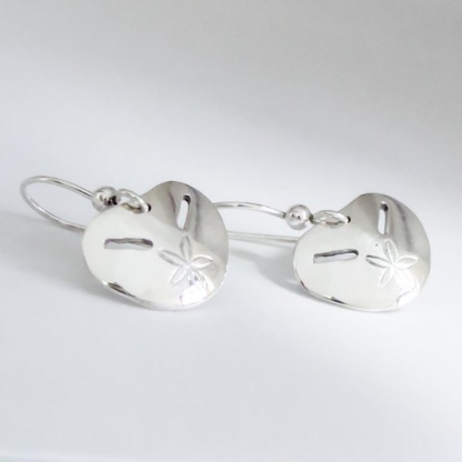 Sterling Silver Large Pansy Shell Earrings - Goldfish Jewellery Design Studio