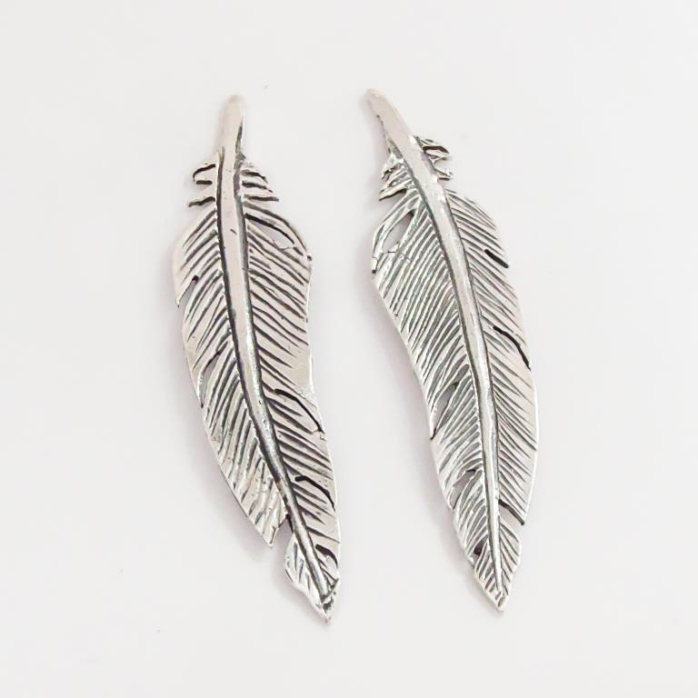 1731b56f6 Sterling Silver Feather Earrings | Goldfish Jewellery Design Studio