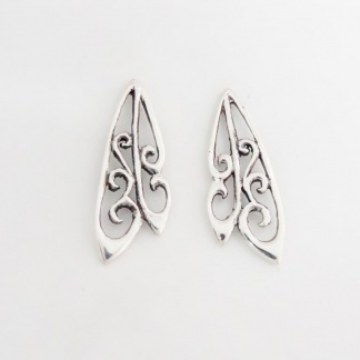 Sterling Silver Dragonfly Wing Earrings