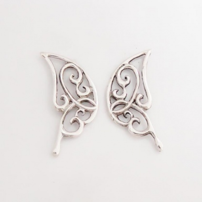 Sterling Silver Butterfly Wing Earrings