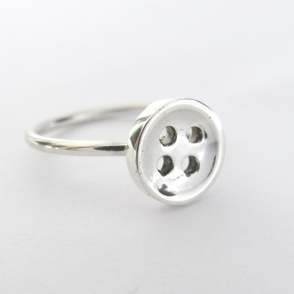 Goldfish Jewellery Design Studio - Sterling Silver Button Stack Ring