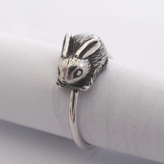 Sterling Silver Bunny Stack Ring