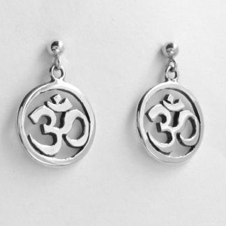 Sterling Silver Aum Earrings - Goldfish Jewellery Design Studio