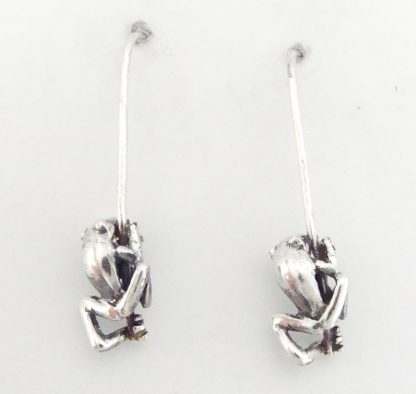 Sterling Silver Frog Earrings - Goldfish Jewellery Design Studio